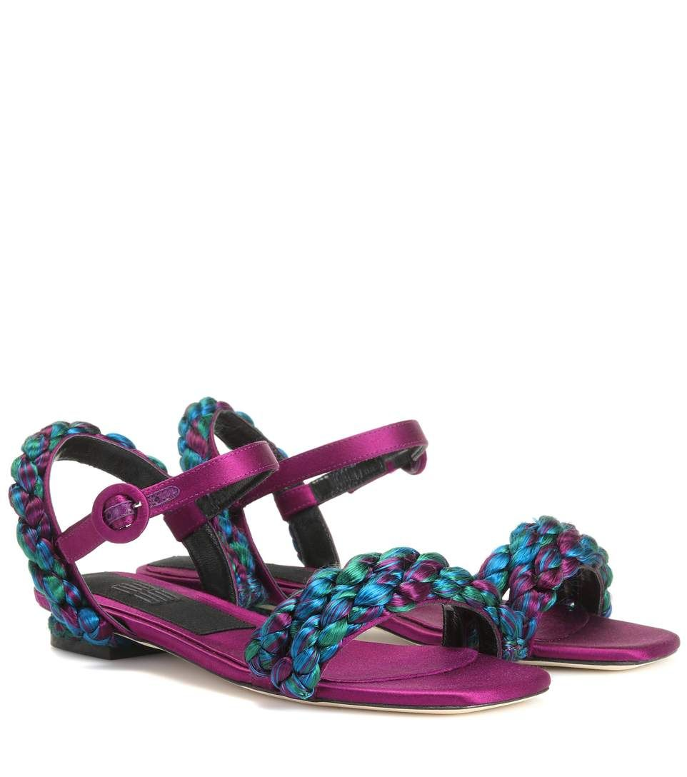 Sanayi 313 Teodolinda satin sandals cheap pay with paypal JKgEN