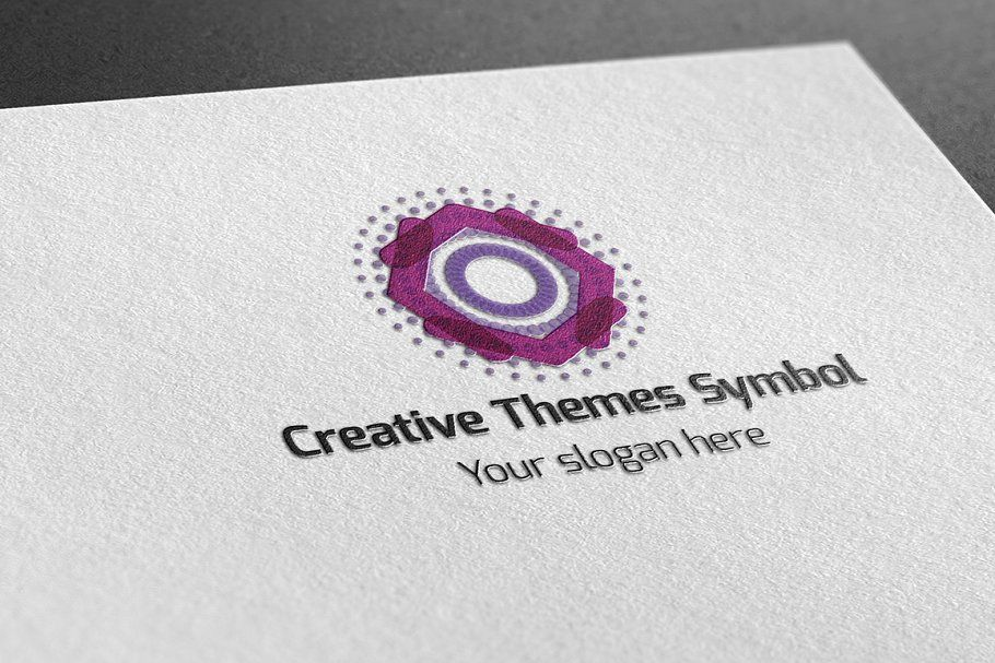 Creative Themes Symbol Logo , sponsored, RGBCMYKvector