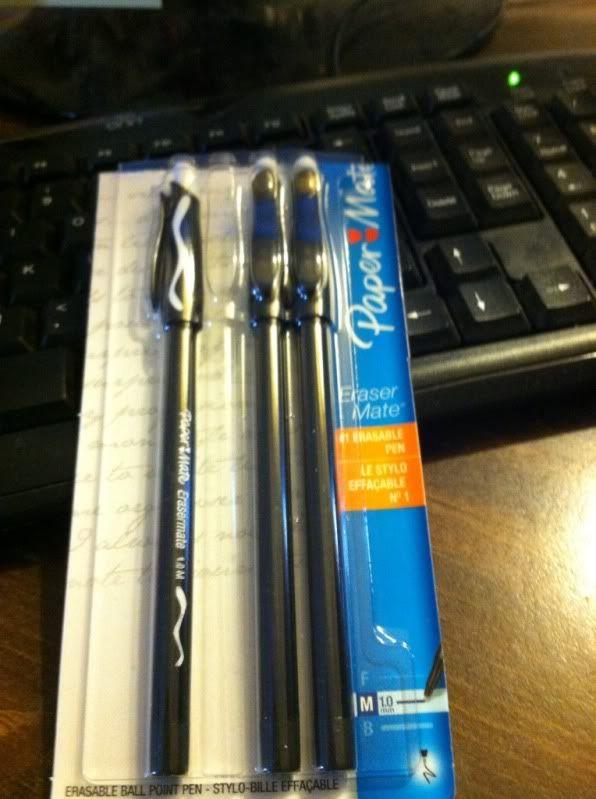 Paper Mate EraserMate Pens Medium Point
