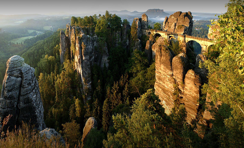 Elbsandsteingebirge sachsen germany