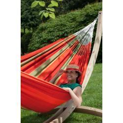 Photo of Flora Chilli – Classic hammock kingsize with frame made of Fsc ™ certified spruce La Siesta