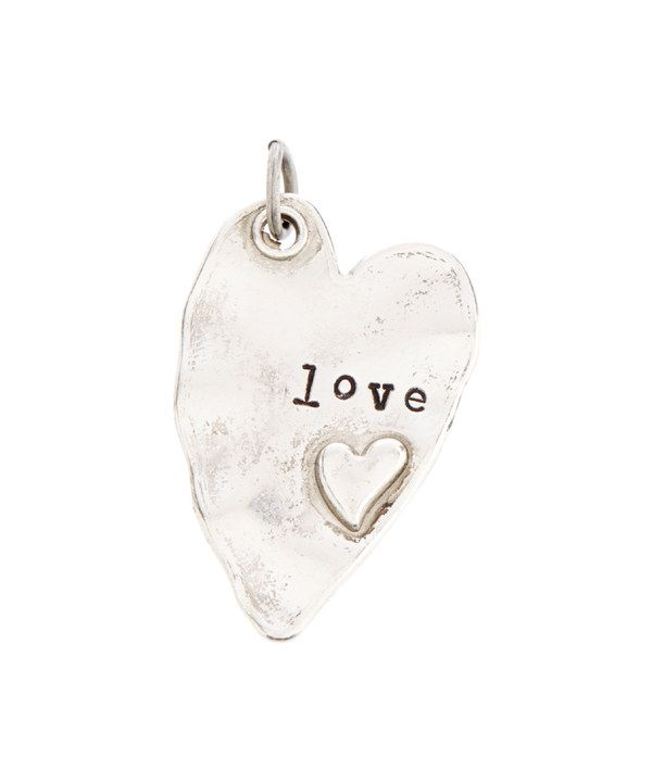 Look at this Silvertone 'Love' Rustic Heart Charm on #zulily today!