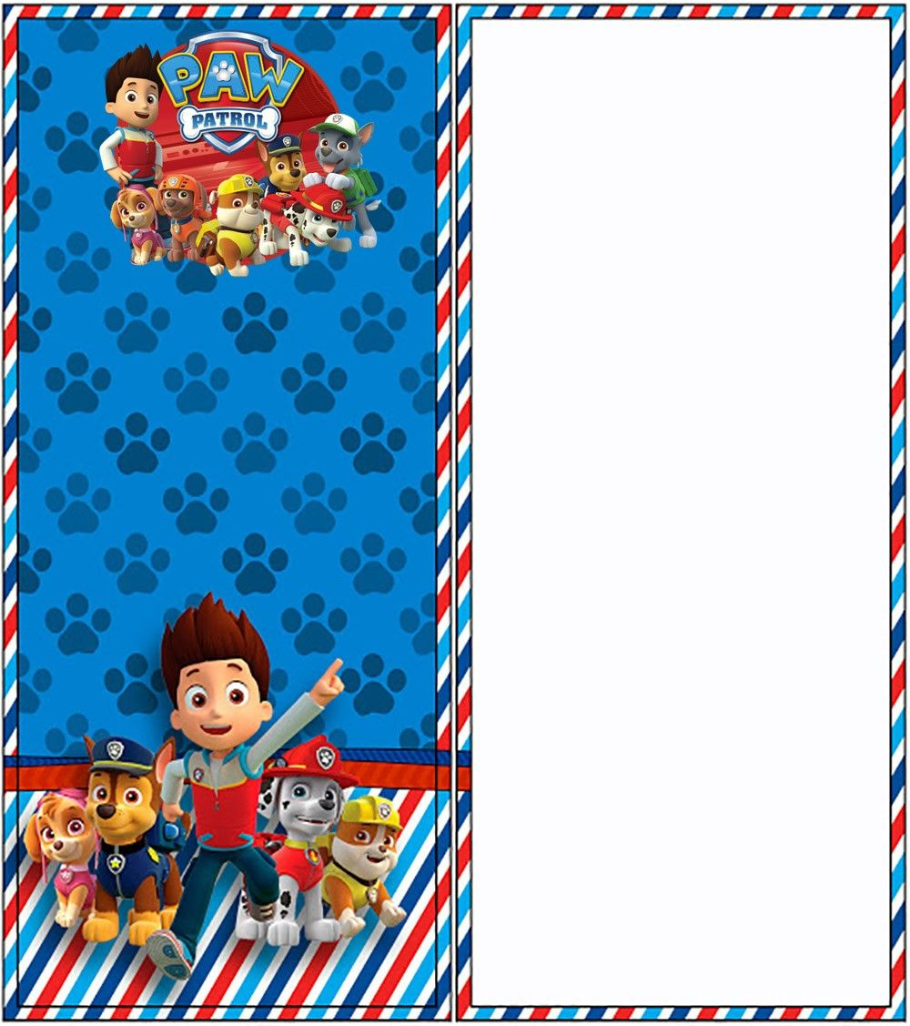 Free Online Paw Patrol Invitation Paw Patrol Birthday In 2018