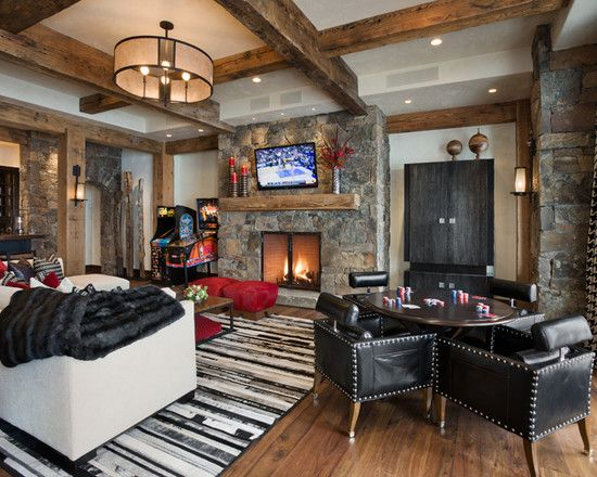 Eclectic Family Room Game Room Design, Pictures, Remodel, Decor and ...
