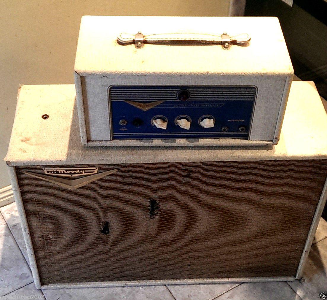 Moody BA40 Head AMP Valves 100 ALL Original 1961 Vintage