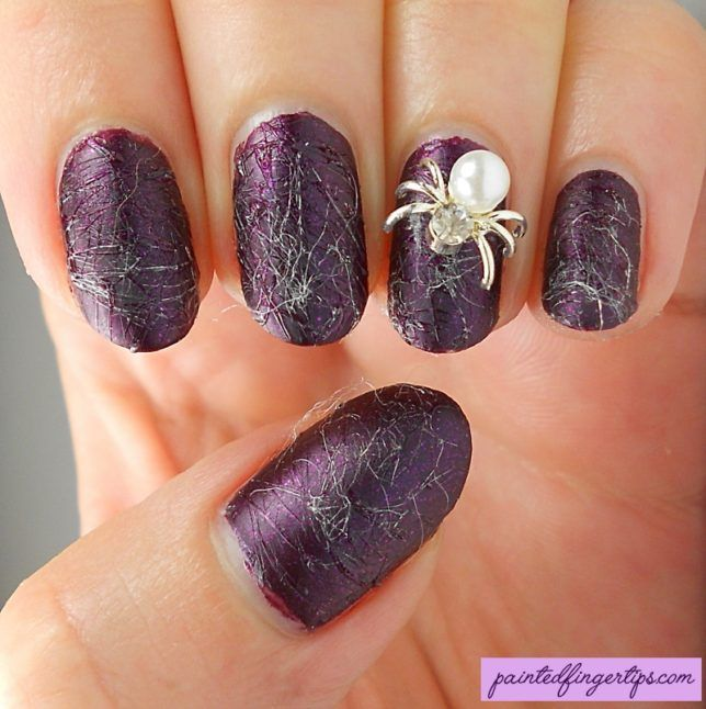 Sugarspun Spiderwebs for Halloween - Painted Fingertips
