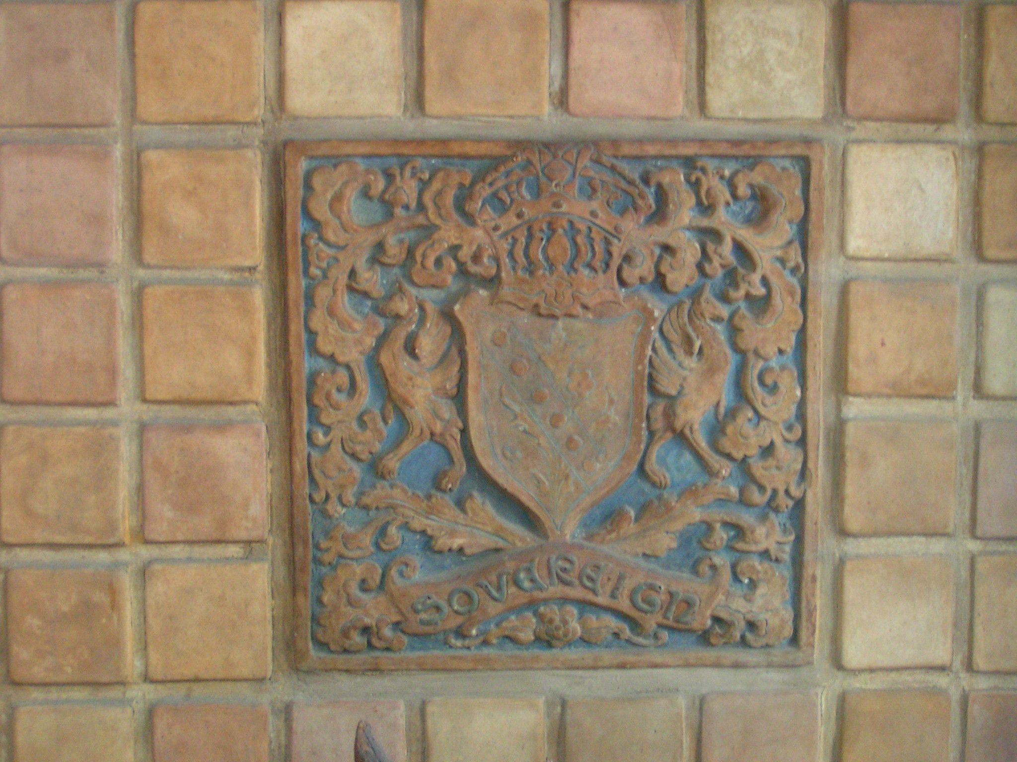 Hamilton Tile 1923 Detail In The Fire Box Of Main Lobby Fireplace