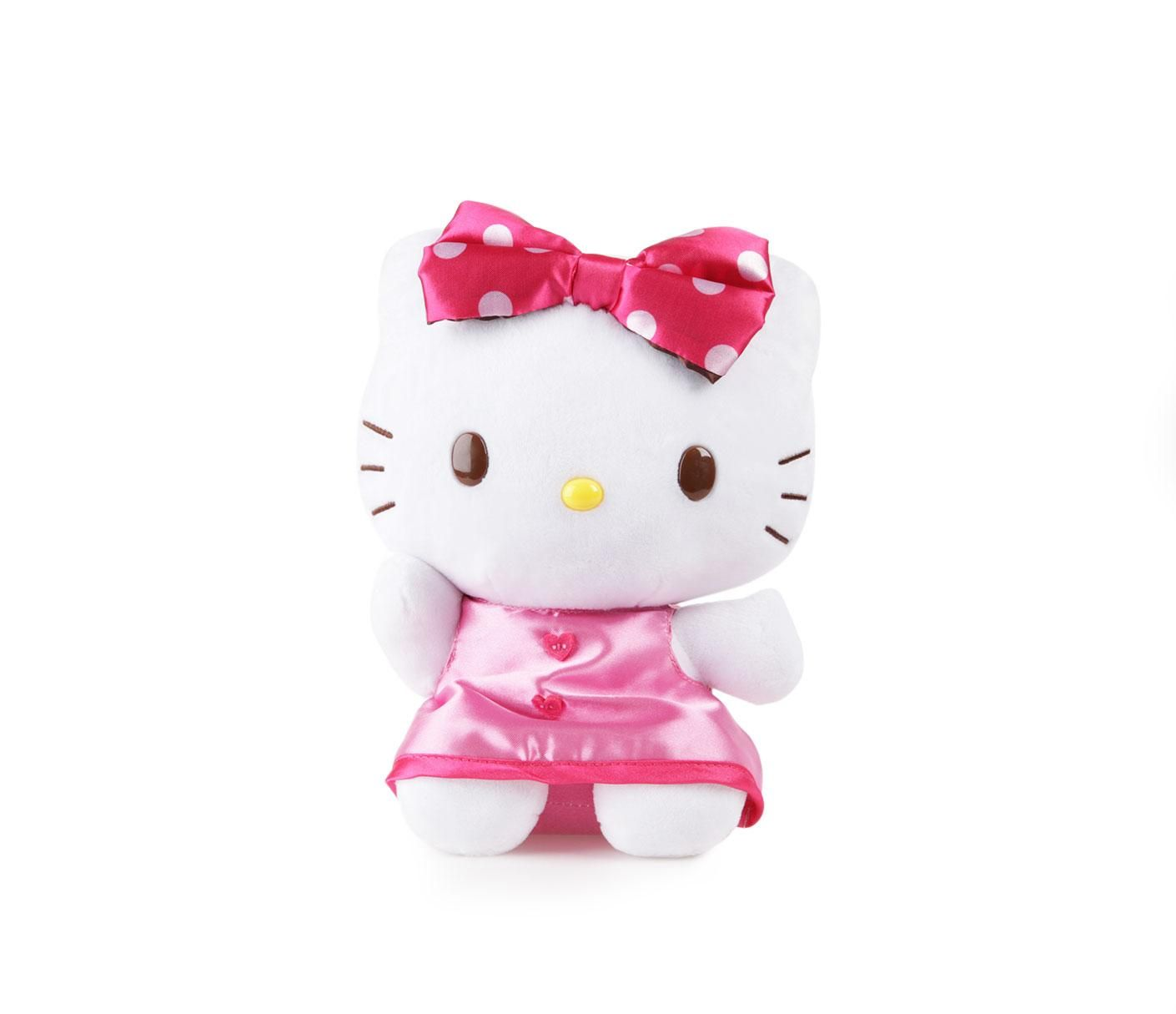 Hello Kitty 8 Plush Polka Dot Bow