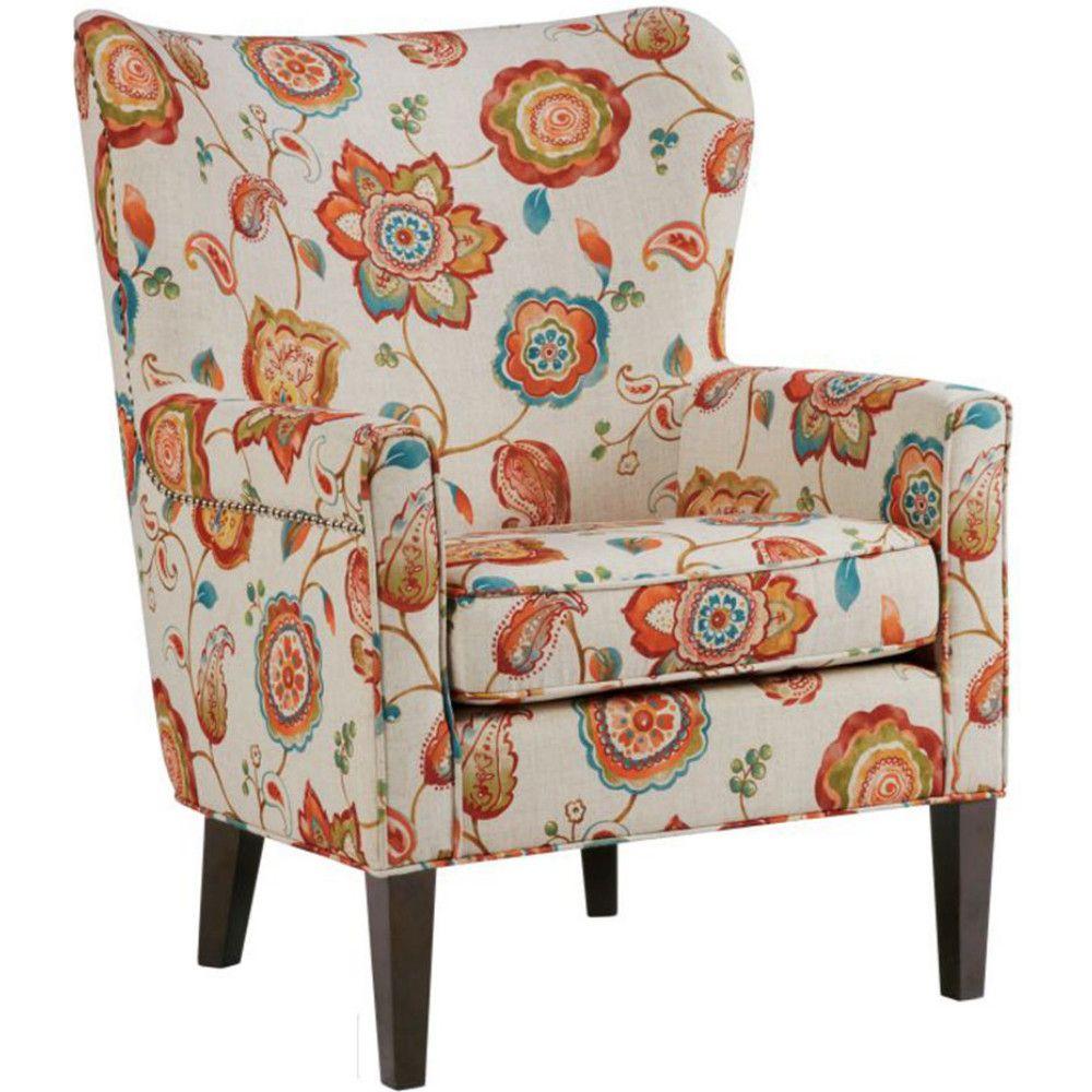 Best Madison Park Mp100 0465 Colette Accent Chair Cream Floral 400 x 300