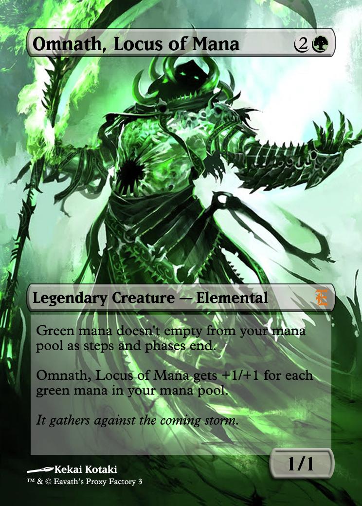 Magic The Gathering Omnath, Locus of Mana Proxy