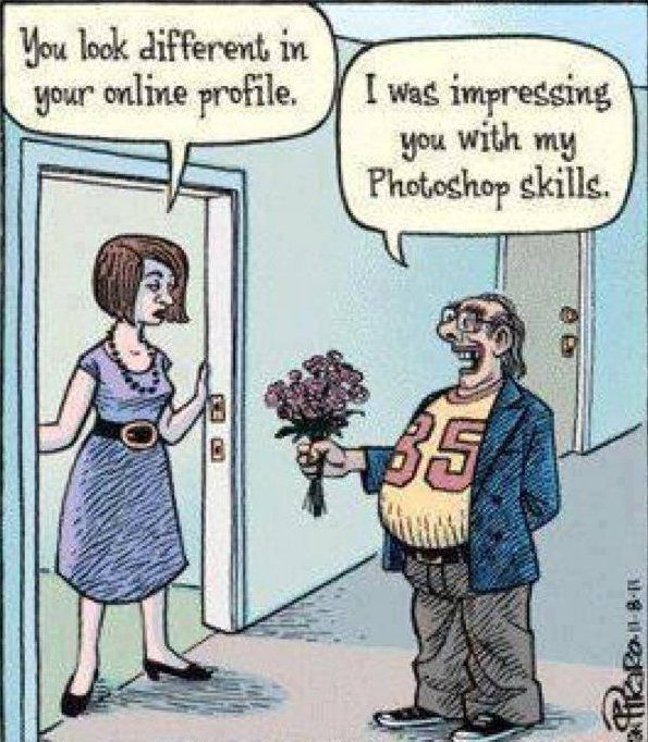 cartoons about online dating