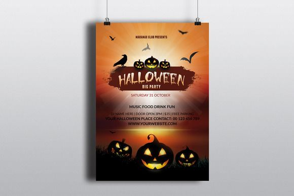 Halloween Party Flyer Template-V396 Shops, Halloween party and Flyers - Invitation Flyer Template