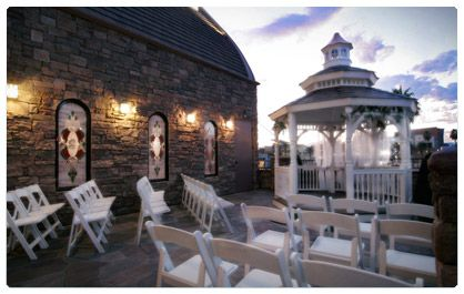 The terrace outdoor wedding chapel in las vegas las vegas wedding the terrace outdoor venue at vegas weddings seats 40 guests and has a beautiful gazebo our chosen venue junglespirit Image collections