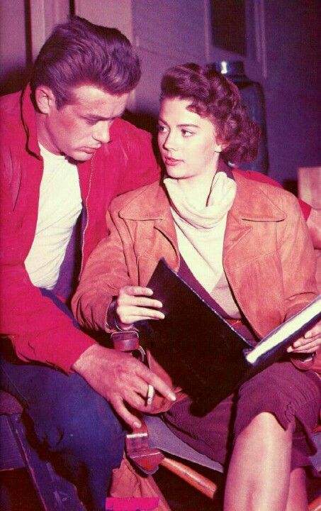 James Dean & Natalie Wood behind the scenes of Rebel Without A Cause