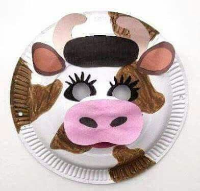 Crafting animal paper plate masks is an ideal group project for young children to interact together and have fun making them. & Pin by Ingrid Swietyová on domáce zvieratká | Pinterest | Face masks ...