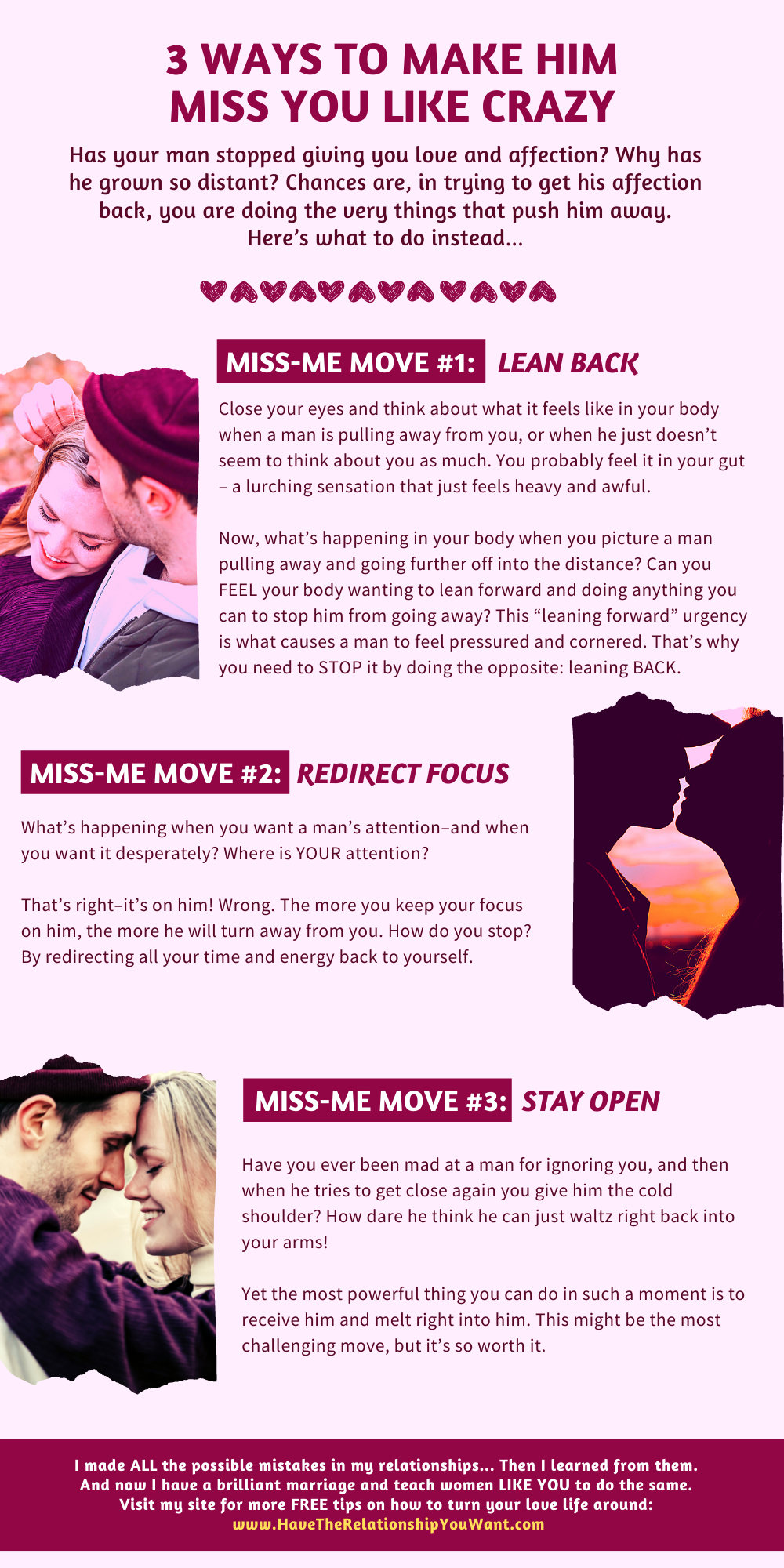 3 Ways To Make Him MISS YOU Like Crazy