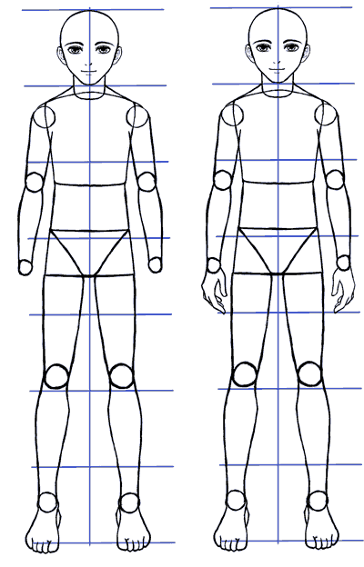 How To Draw Male Body Tutorial