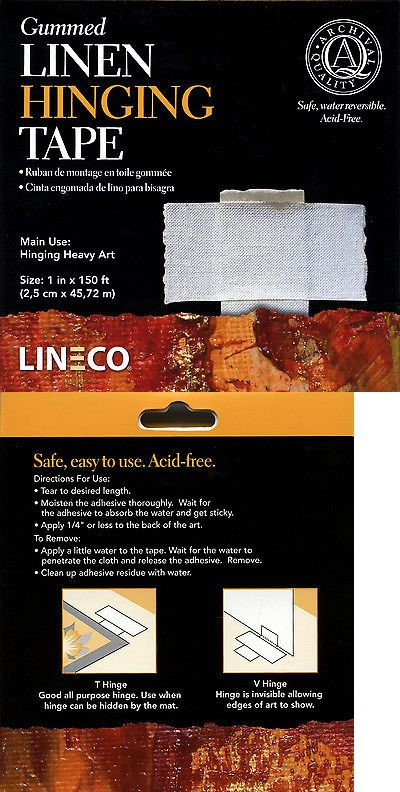 Other Framing and Matting 11786: Lineco Gummed Linen Hinging Tape 1 ...