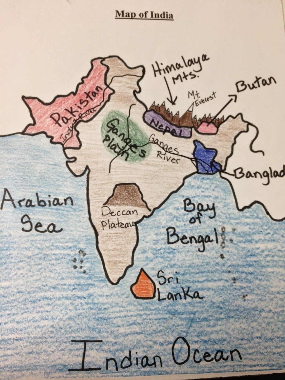 worksheet Ancient India Map Worksheet water for sixth grade map of india social studies ideas india