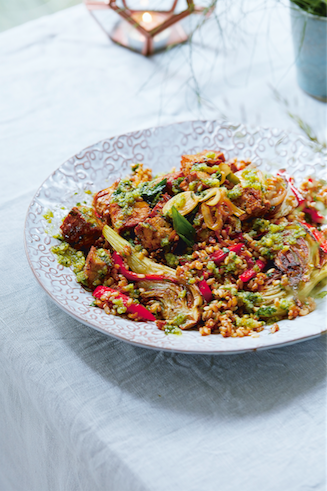 Sesame Coriander And Roasted Fennel Rice Bowl Deliciously