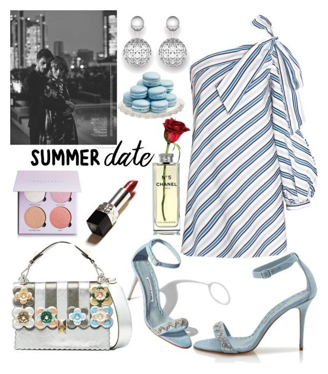 """""""Date"""" by swweetalexutza ❤ liked on Polyvore featuring Anastasia Beverly Hills, Fendi and Chanel"""