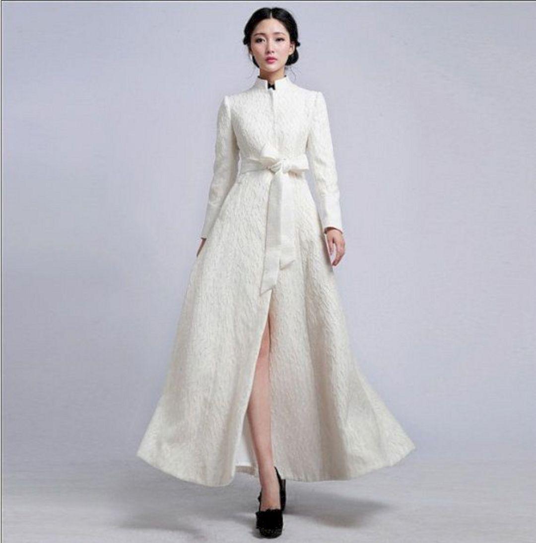35 Awesome White Coat For Winter Wedding Dress Ideas Dresses Elegant Coats Short Wedding Dress