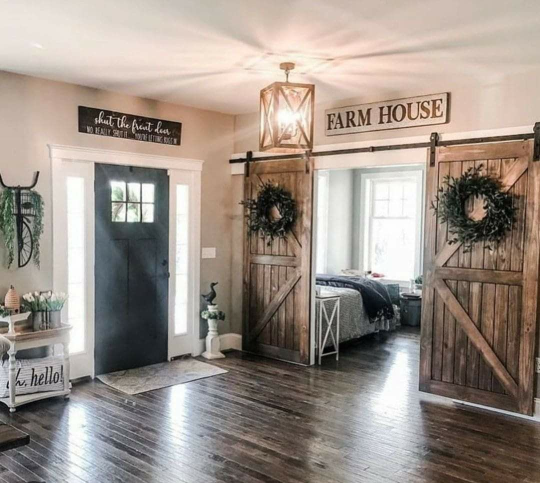 Pin By The Grit Life On House In 2020 Farmhouse Decor Living Room Farm House Living Room Farmhouse Doors
