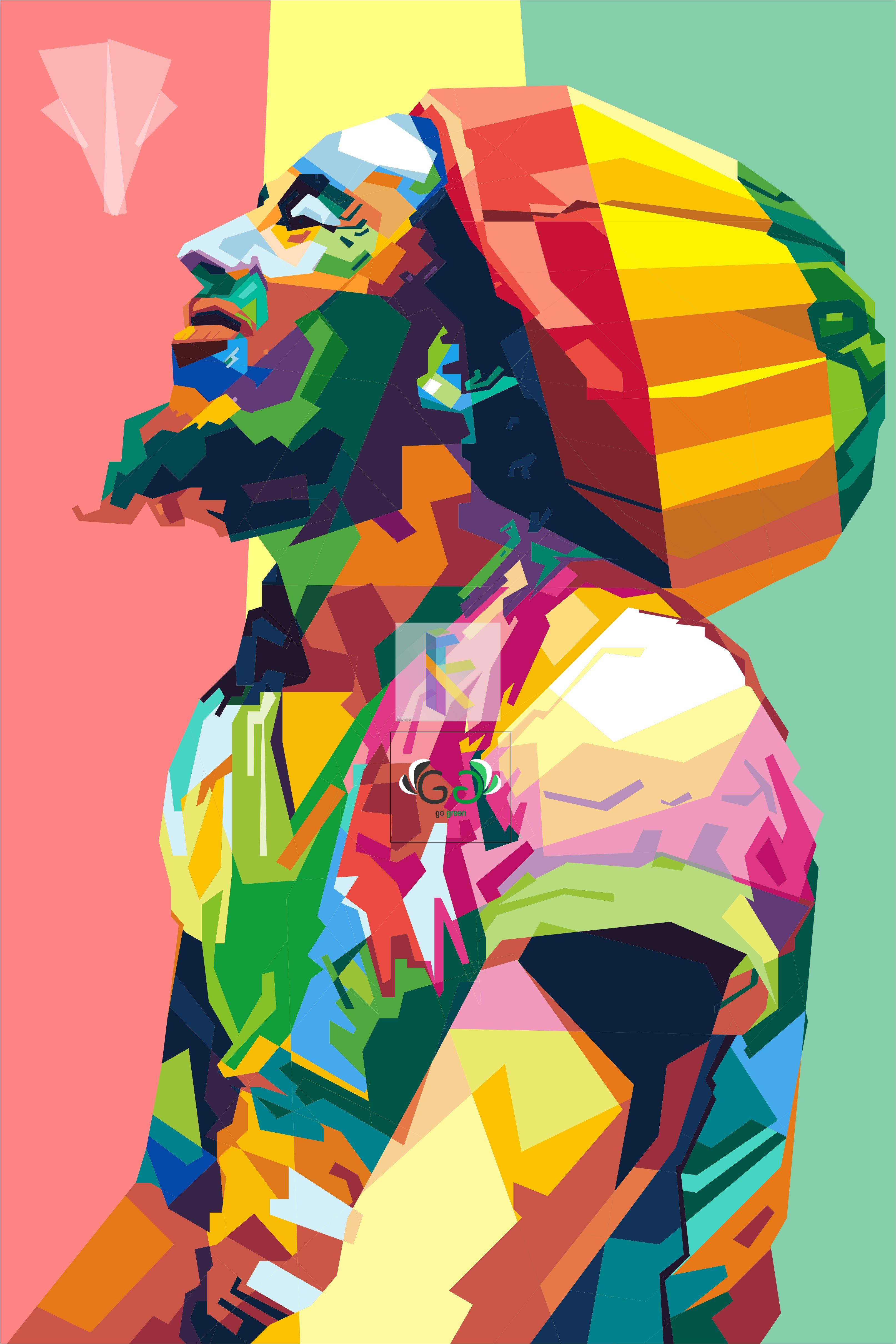 Bob Marley In Wpap Arte Pop Desenho Da Figura Humana Papeis De