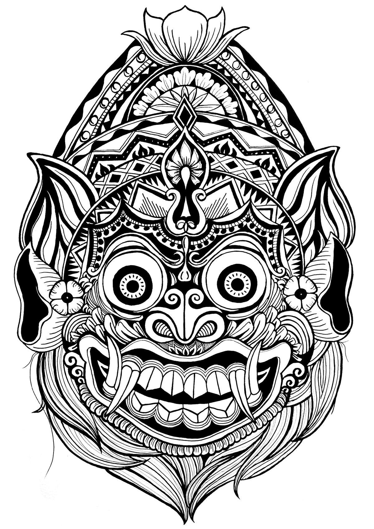 Balinese Dragon  Art  Balinese tattoo Tibetan tattoo