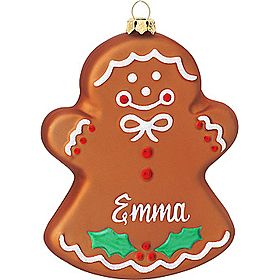 Personalized Gingerbread Girl Ornament