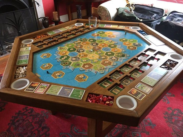 Ultimate Catan Gaming Table Doubles As Amazing AllGame