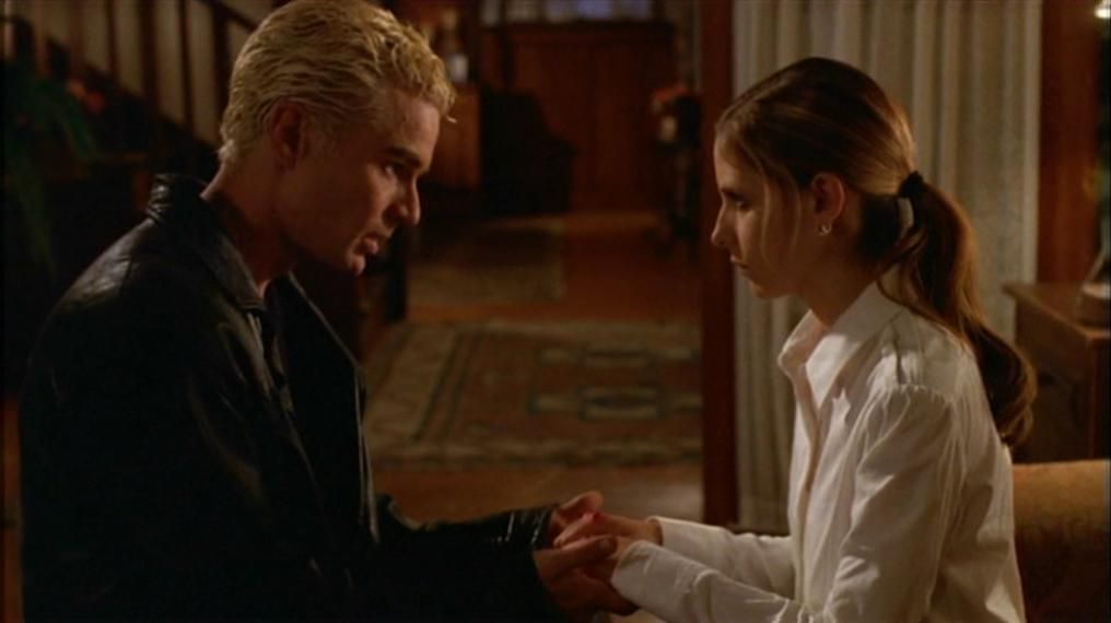 Buffy : How long was I gone? Spike : 147 days yesterday  Uh