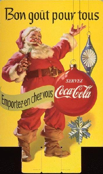 Image Pere Noel Coca Cola.Epingle Sur Affiches Et Encarts Publicitaires Vintage