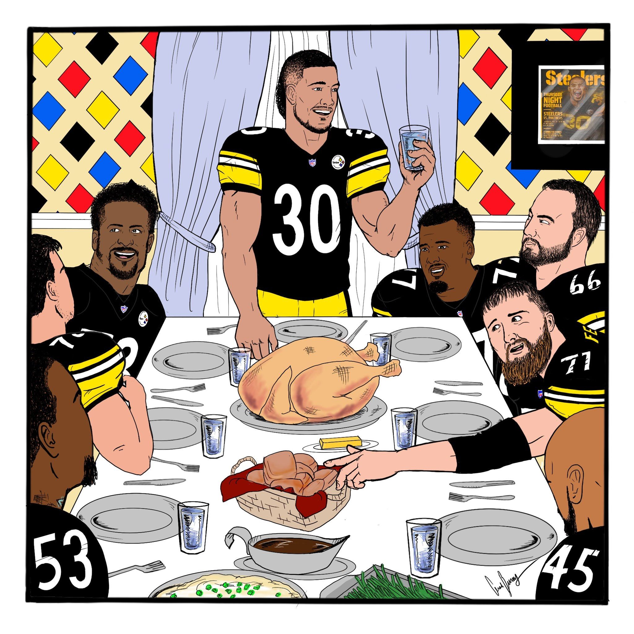 Steelers Thanksgiving 🖤💛🖤💛 Pittsburgh steelers funny