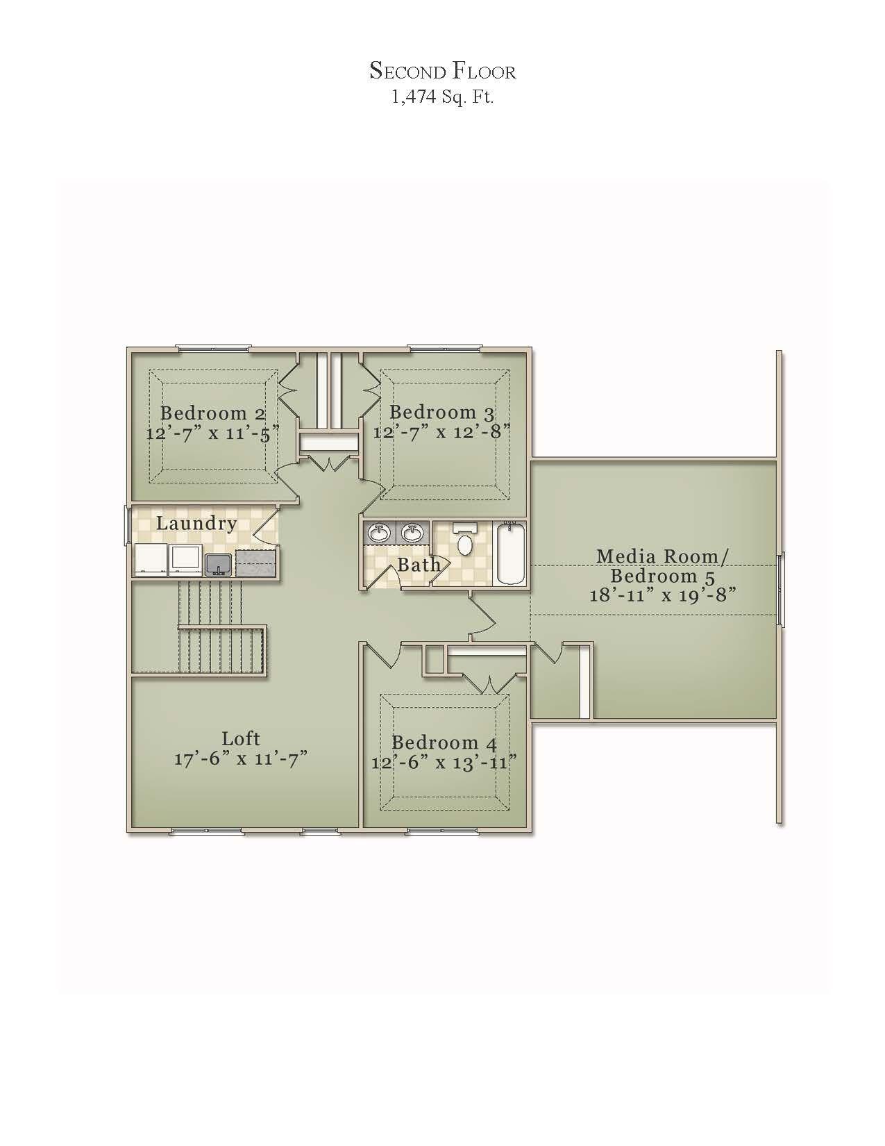 the riddick second floor plan view mckee floor plans the riddick second floor plan view