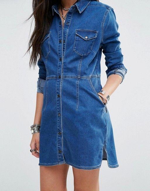 a0e59fdef1 Free People Dynomite Denim Mini Dress Medium NEW  FreePeople  Shirtdress   any