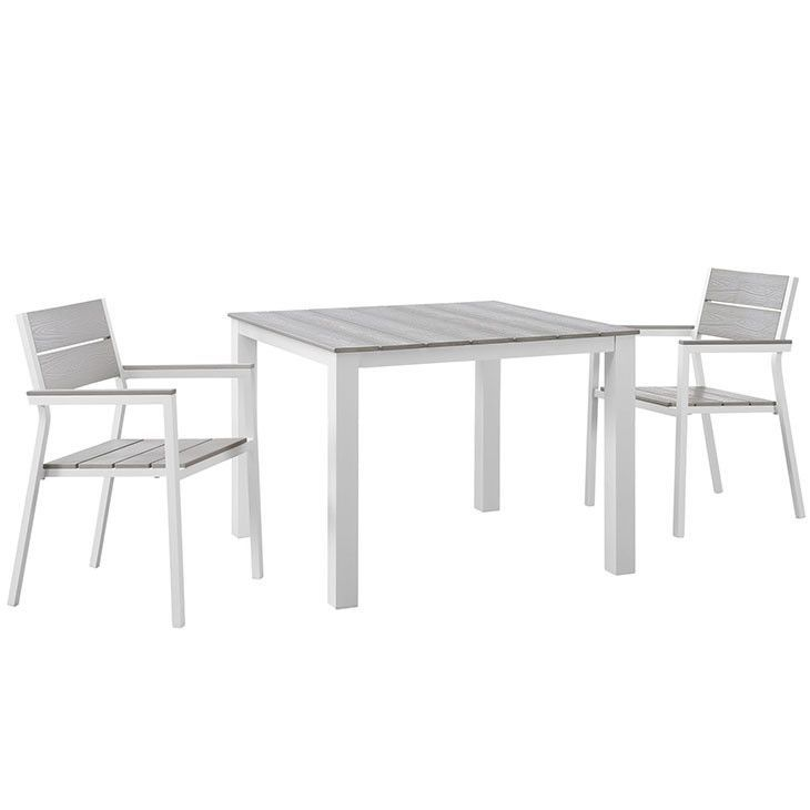 Maine 3 Piece Outdoor Patio Dining Set EEI-1743