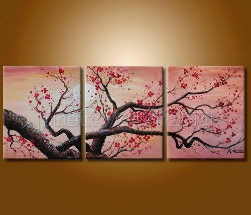 Cherry Blossom Painting Cherry Blossom Art Cherry Blossom Wall Art