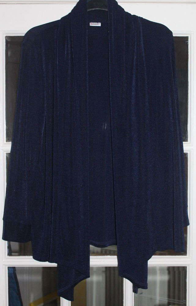 low priced a few days away online retailer LADIES NAVY EDGE TO EDGE DIP FRONT SLINKY FEEL CARDIGAN FROM ...