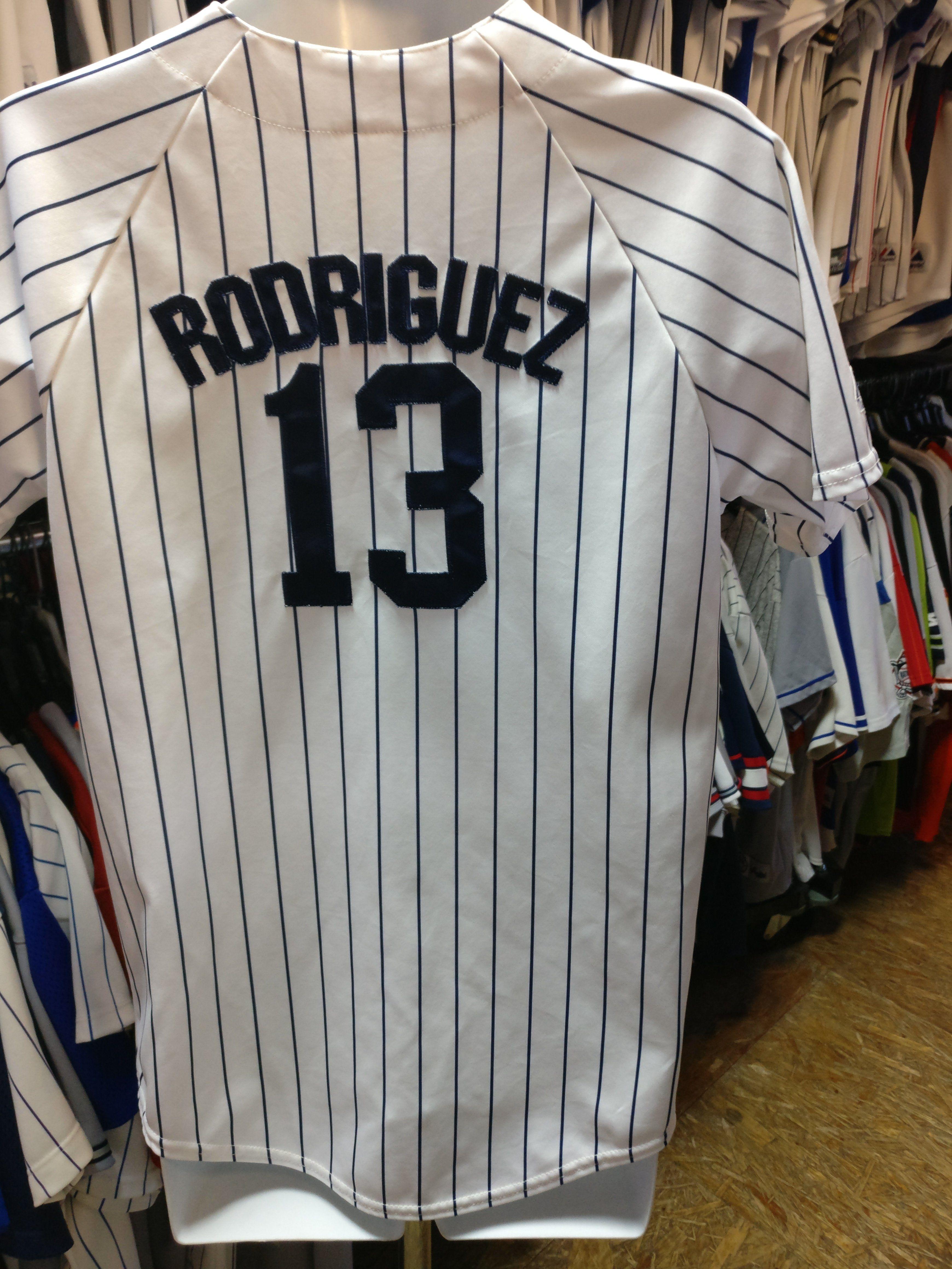 pick up 82b0a 87e29 Vintage #13 ALEX RODRIGUEZ New York Yankees MLB Majestic ...