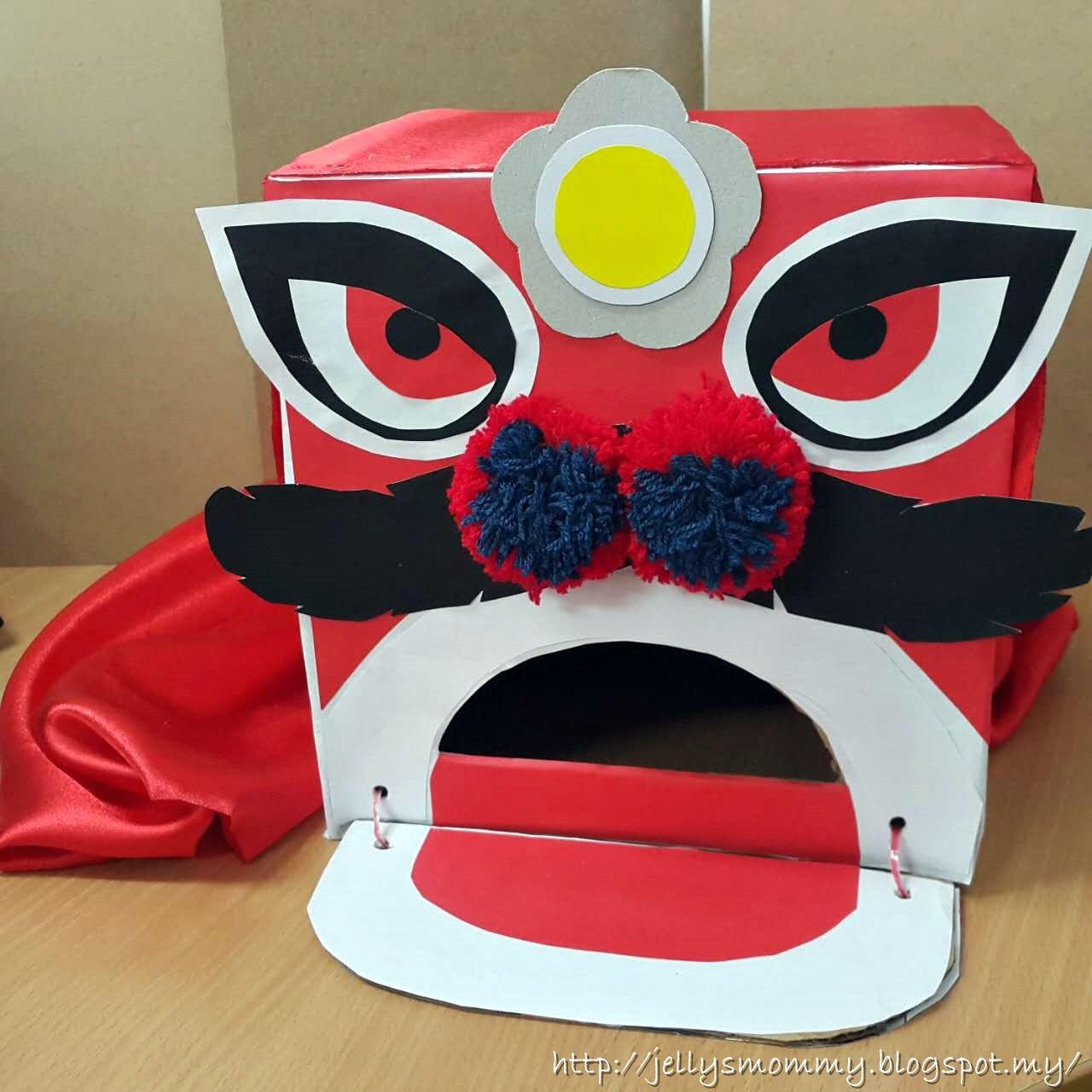 Diy Your Own Chinese Lion Head Using A Carton Box Lionheaddiy Diy