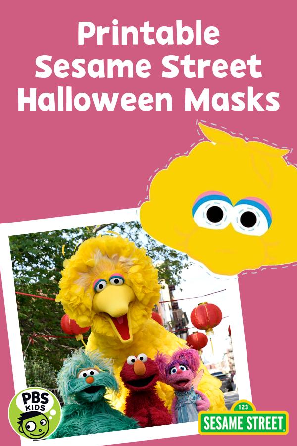 Printable Sesame Street Halloween Masks Halloween Masks Kids Halloween Masks Pbs Kids