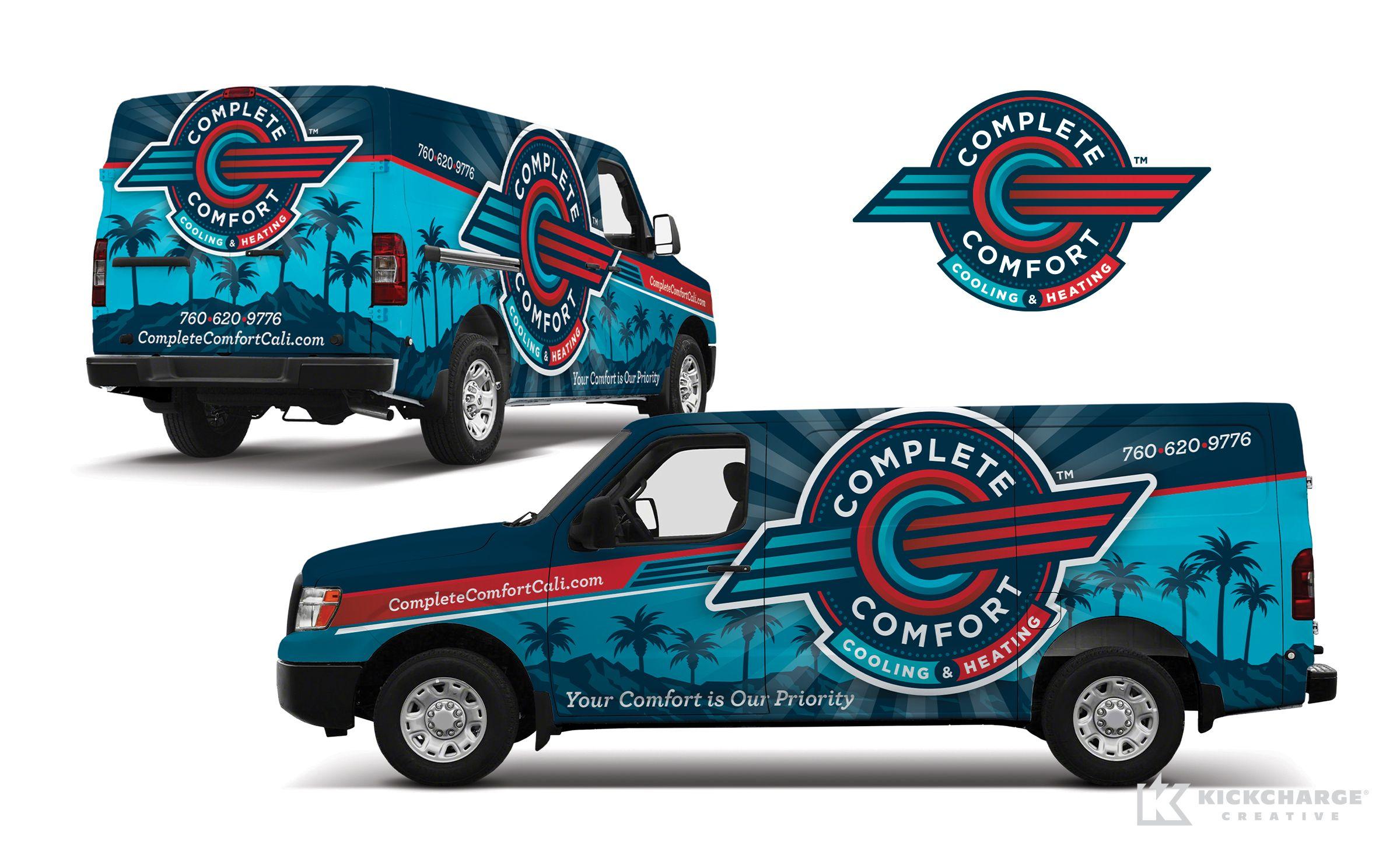 Vehicle Wrap Design For Complete Comfort Cooling Heating Nj