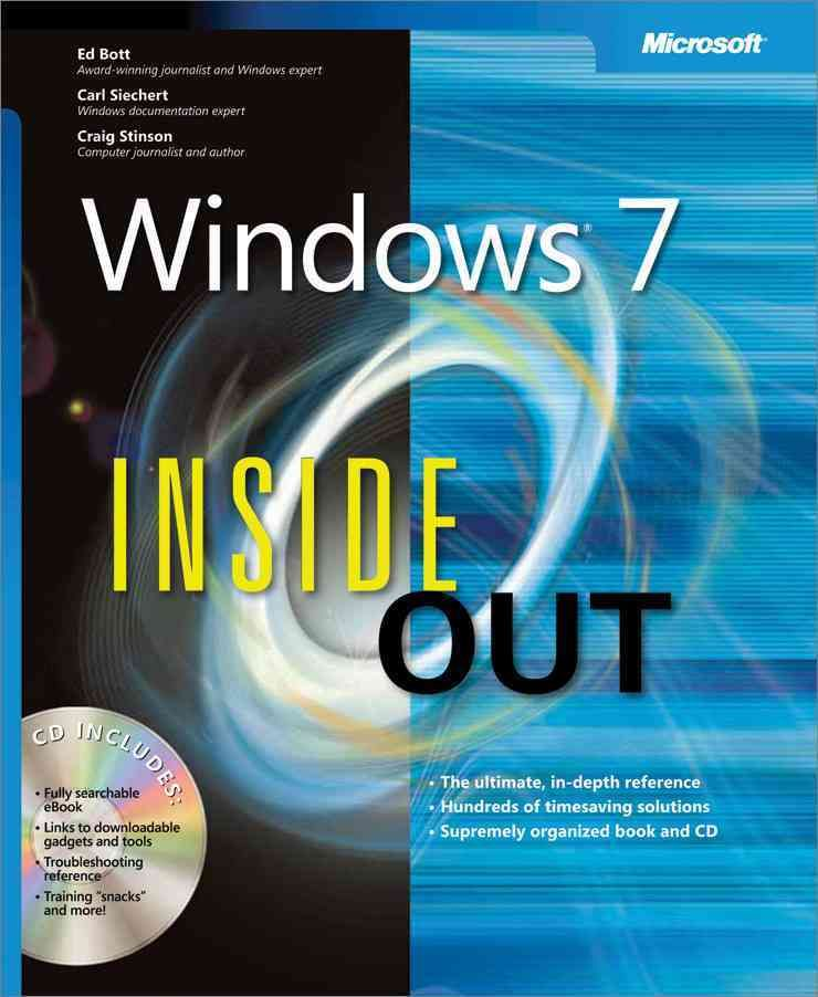 Microsoft Windows 7 Inside Out Microsoft windows, Microsoft and