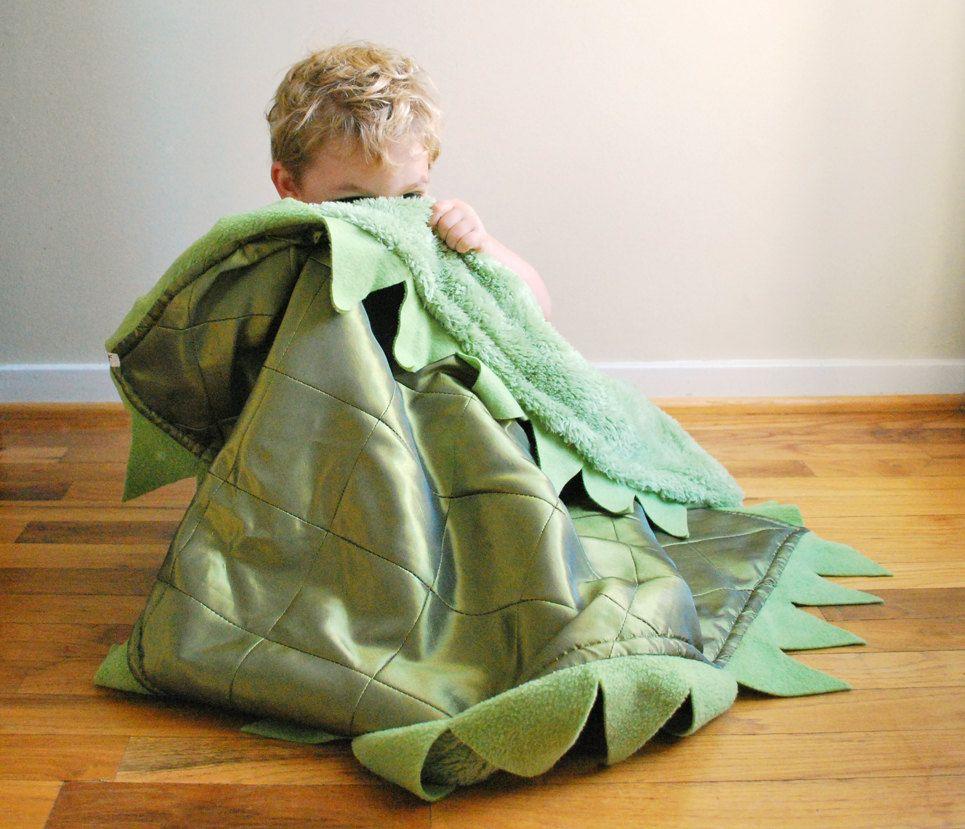 Green Dragon Cuddle Blanket. $50.00, via Etsy.
