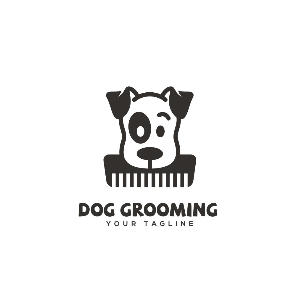 Dog Grooming Logo Design Template Vector Dog Logo Design Dog Grooming Dog Groomers