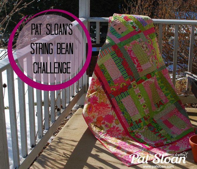 Pat Sloan String Bean Challenge Banner Felt Embroidery String