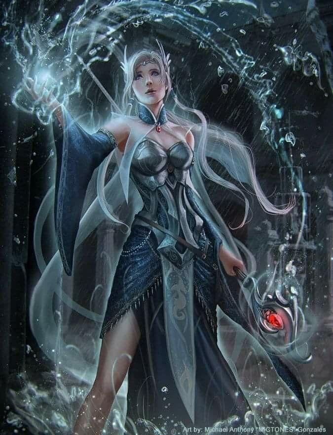 Female ice mage   Fantasy : Character   Fantasy art, Ice