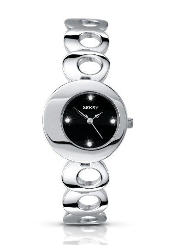 Seksy Twilight by Sekonda Black Dial Stainless Steel Bracelet Ladies Watch 4800 | Your #1 Source for Watches and Accessories