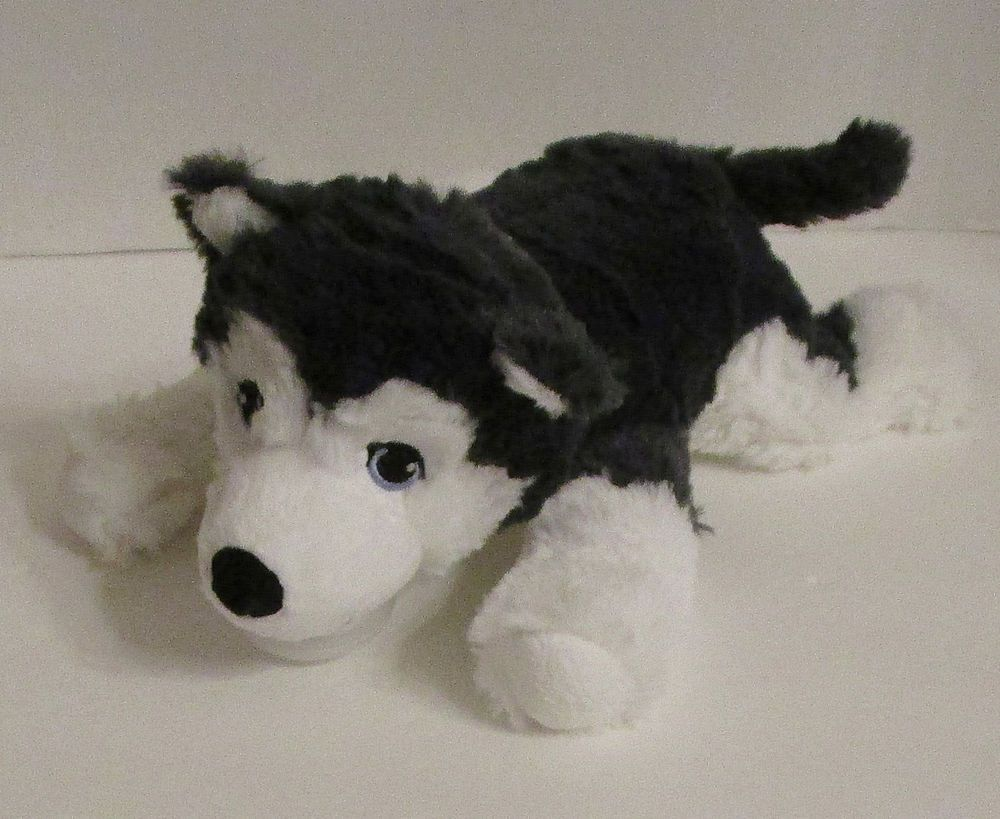 Ikea Siberian Husky Livlig Plush 10 Soft Toy Gray Dog Stuffed